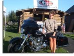 Is It True? Alaska Governer and GOP VP Candidate Sarah Palin rides this Pink Harley?
